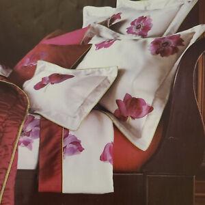 YVES DELORME Monalisa Petunia Magenta Full/Queen Sateen Duvet Cover&Shams 4-Set