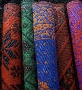 Indian Style Royal Rug  6X6 ft Oriental Premium Quality Carpet, Plastic Chatai