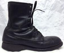 VTG ADDISON SHOE COMPANY Sz 8 R Mens Black Combat Military Steel Toe Boots 1981