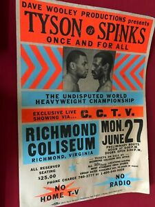 tyson vs spinks poster boxing