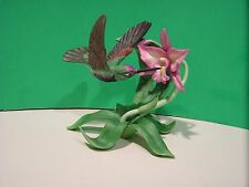 LENOX MAGNIFICENT HUMMINGBIRD Garden Bird NEW in BOX with COA Bearded Iris