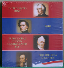 2010 Presidential $1 Coin Uncirculated Set 8 Golden BU Dollars US Mint SEALED