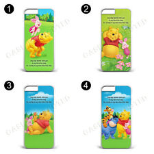 QUOTE WINNIE THE POOH PIGLET GIFT PRESENT plastic CASE FOR iPhone