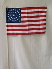 "12x18 12""x18"" Wholesale Lot of 12 USA 34 Star Circular Flag Stick wood staff"
