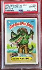 1986 GARBAGE PAIL KIDS PSA 10 #100B MARSHY MARSHALL GEM MINT 10