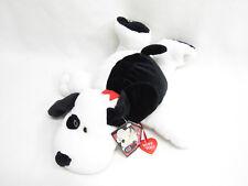 VTG GIBSON BLACK WHITE SPOT PUPPY DOG PLUSH HEART