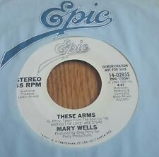 Mary Wells ‎– These Arms ~ Promo ~ (VG++)