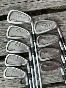 King Cobra Oversize Tour Iron Set 3-SW Cobra Steel Stiff Flex Shafts Golf Pride