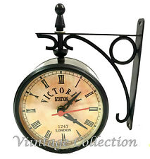 Victorian Antique Station Double Sided Railway Clock Functional Clock Home Decor