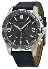Swiss Army Victorinox Chrono Classic Leather Chronograph Mens Watch 241657