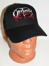 OBITUARY black cap hat NEW embroidered logo death metal