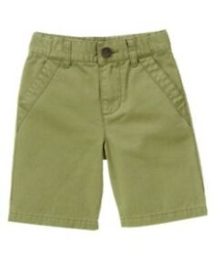 GYMBOREE GONE SURFIN' OLIVE GREEN WOVEN SHORTS 3 4 5 6 7 8 10 12 NWT