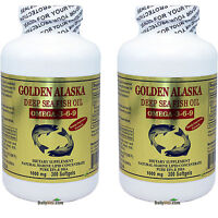 2 x Golden Alaska Deep Sea Fish Oil Omega 3-6-9 300 Softgels, DHA/EPA, FRESH