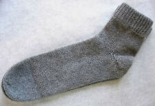 Women 100% cashmere bed knit socks Heather Gray grey ankle length
