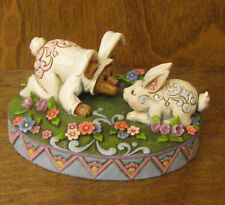 Boyds JIM SHORE Bearstone #4021399 AIDEN BUNNYBOTTOM w/ HARIETTE...NOSE TO NOSE