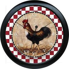 Personalized Country Kitchen Rooster Wall Clock