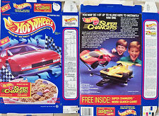 1990 Hot Wheels Super Chargers Ralston Cereal Box s305