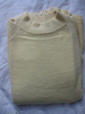 Designer Original Woman's Yellow Mock Neck Sweater Back Zip - US 40