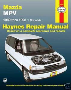 NEW HAYNES WORKSHOP REPAIR MANUAL: MAZDA MPV 1989-1998