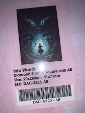 Into Wonderland-diamond art club diamond painting 20x28in. Cheshire Cat & Alice