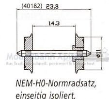 Isoliert Neu Märklin 7589 Radsatz 10,4 x 26 mm Zapfenlager GS,Hamo,DC