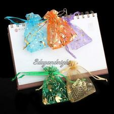 50x Organza Jewelry Candy Pendent Mixed Color Mini Gift Pouch Bags Wedding Bag