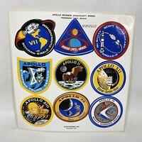 Vintage Vitachrome APOLLO 7-15 MANNED SPACECRAFT SERIES Sticker Decal Sheet READ