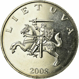 [#689721] Coin, Lithuania, Litas, 2008, MS(63), Copper-nickel, KM:111