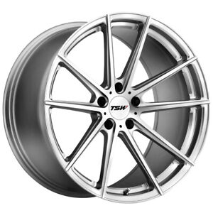 "TSW Bathurst 18x9.5 5x114.3 (5x4.5"") +39mm Silver/Mirror Wheel Rim"