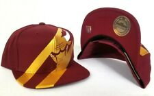 00c95a421b5 Mitchell   Ness NBA Chicago Bulls Burgundy   Gold snapback Adjustable Hat  Cap