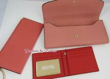 NWT MICHAEL KORS Juliana Large 3-In-1 Flap Wallet signature PCH/PGRP/PSN