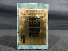 MARBLE PAPERWEIGHT UNITED STATES WELCOME HOME WAR 1981 NEW YORK TIMES VINTAGE-