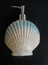 NEW clam shell design ceramic soap / lotion dispenser