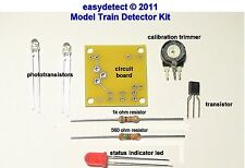 BI DIRECTIONAL N SCALE MODEL TRAIN DETECTOR KIT FOR CROSSING SIGNAL ACTIVATION
