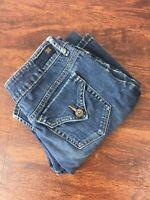 SIMPLY VERA by VERA WANG Straight Leg Mid Rise Blue Jeans Denim Pants Women's 2