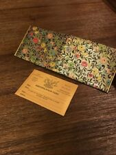 W-W-WINSHIP Vintage Bifold Wallet Floral Gold With ID Card King Slimfold RARE!