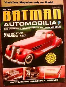 Eaglemoss Automobilia Magazine Only Batman detective Comics Batmobile #27 #12