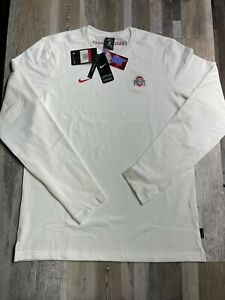 New Nike Dri-Fit Ohio State Buckeyes Long Sleeve Official ONFIELD $75 LARGE TALL