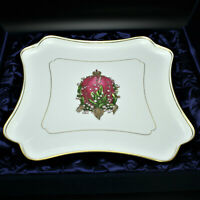 Faberge Imperial Lilly of Valley Egg Platter Limoges Porcelain China 24K Gold