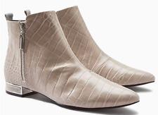 NEXT - Women's Grey Croc Effect Patent Pixie Boots - sizes UK 6 7 - rrp £42