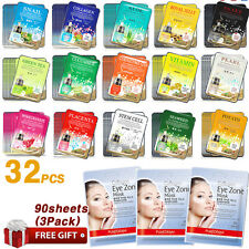32pcs Korean Face Mask Sheet Moisture Essence Facial Mask Pack+FREE GIFT 90Sheet