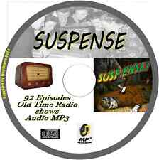 Suspense OTR 92 Old Time Radio Shows - Audio MP3 CD