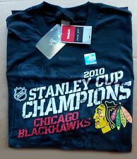2010 Chicago Blackhawks Hockey -- STANLEY CUP CHAMPIONS -- Black Mens XL SHIRT