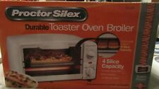 Toaster Oven Broiler White Bake Pan Broil Function Handy Broilers Auto Shutoff