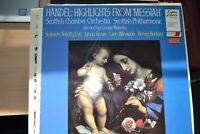 SCOTTISH CHAMBER ORCHESTRA    HANDEL HIGHLIGHTS FROM MESSIAH     LP    CC7061