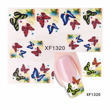 Nagelsticker Fingernägel Aufkleber Tattoo Nail ArtNageldesign Schmetterling 1320