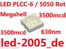 30 x SMD LED PLCC-6 Rot 3500mcd,SMD LED 5050 Red,SMD LED 5050 PLCC6 Red,Rouges,