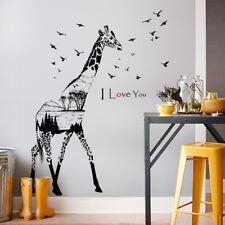 Wandtattoo Afrika Giraffe Vögel Baum Dschungel Aufkleber Wohnzimmer Zimmer Liebe