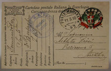 POSTA MILITARE 97 FRANCHIGIA TIMBRO 8° REGGIMENTO BERSAGLIERI 11.5.1918  #XP443F