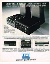 PUBLICITE ADVERTISING 045  1976  ITT SCHAUB-LORENZ   hi-fi